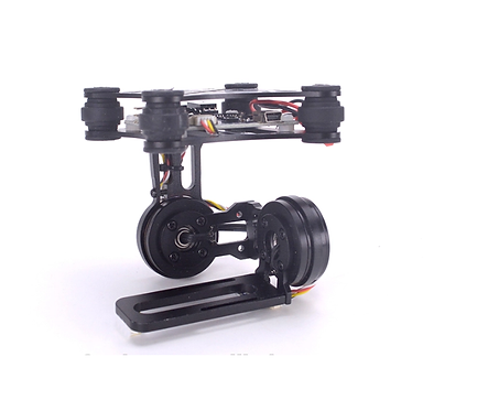 Lightweight 2-Axis Brushless Gimbal Frame with BGC Board