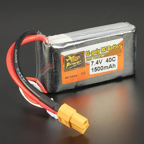 2s  7.4v 1500 mah Zop power lipo battery