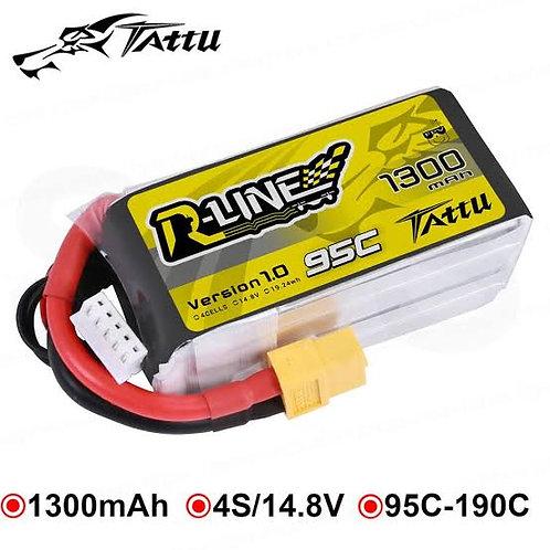 Gens Ace Tattu R-line 4s 1300mah 95c lipo battery