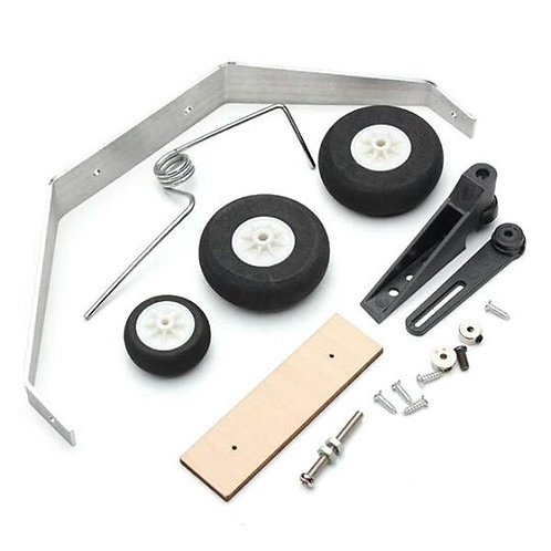 Aluminum Alloy landing gear with Steering Tail Wheel For RC Airplane