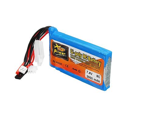 ZOP Power 7.4V 2000mah 8C Lipo Battery For Frsky  Taranis Q X7 Transmitter
