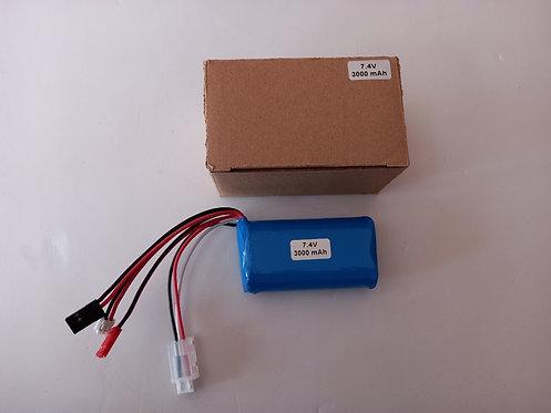 7.4v 3000mah 18650 Lion battery for transmitter