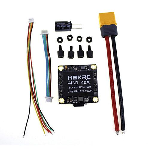 Hakrc 40A 4in1 ESC BLHeli_S BB2 2-6S Dshot600 Built-in 5V 2A BEC
