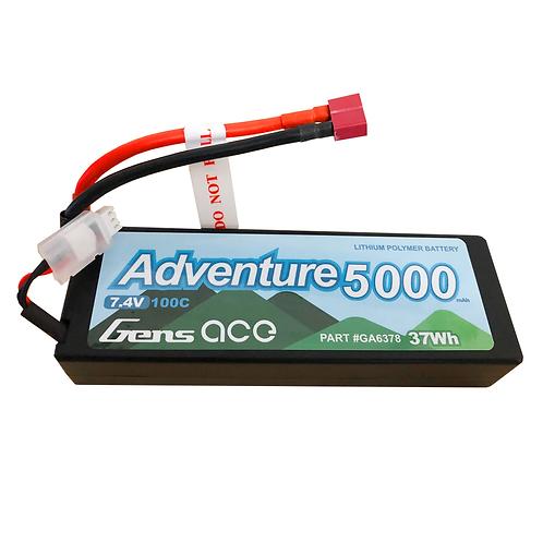 Gens Ace Adventure 5000mAh 7.4V 100C 2S1P HardCase Lipo Battery Pack