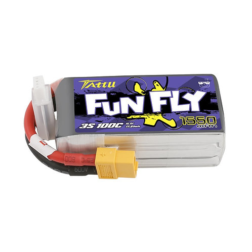 3s 1550mah 100c gensace tattu funfly lipo battery