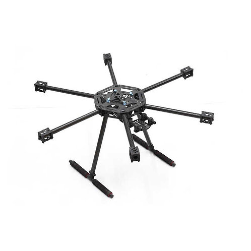 Lji X6 600mm Hexacopter carbon fiber frame with skids