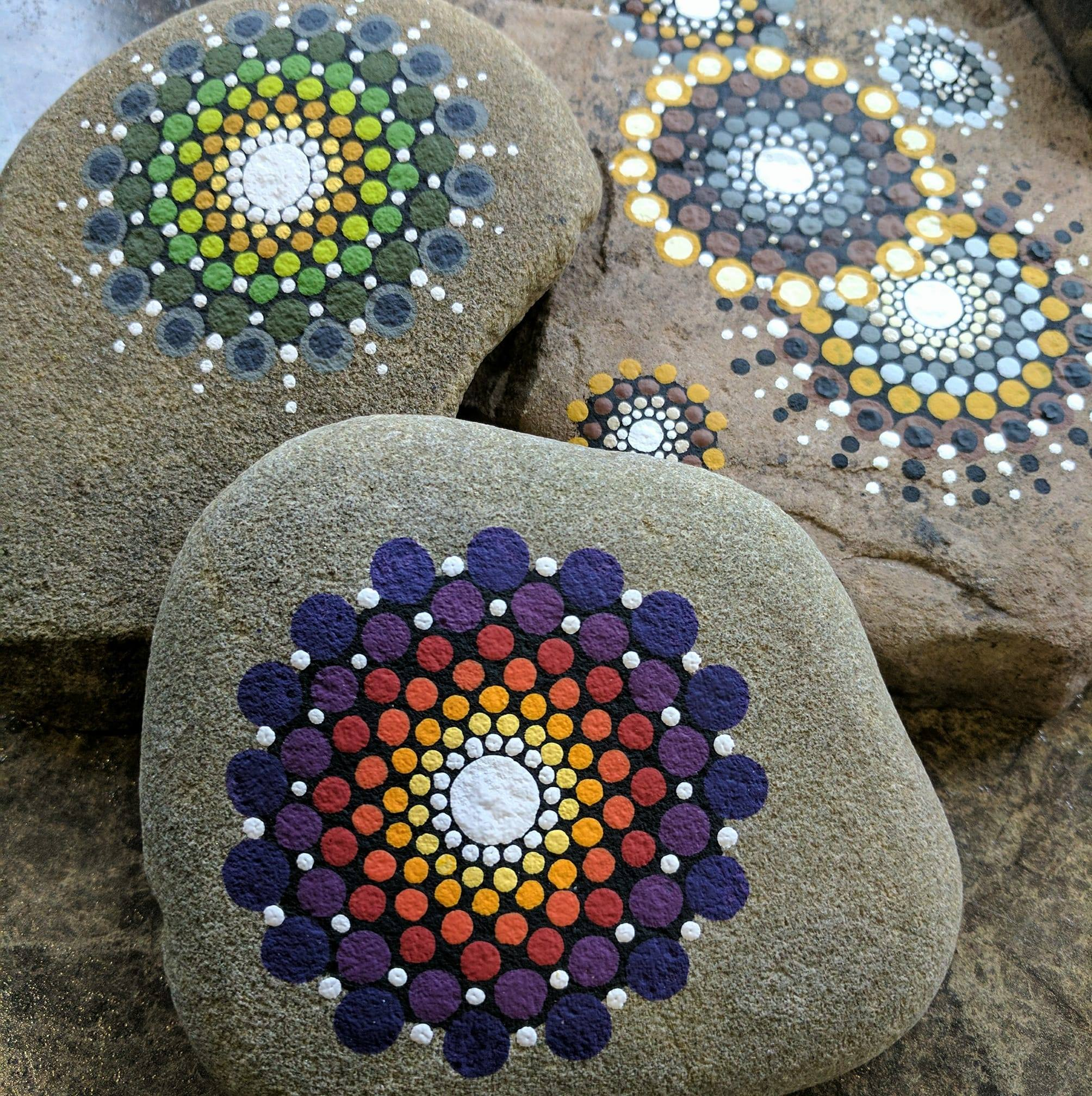 rocks painted