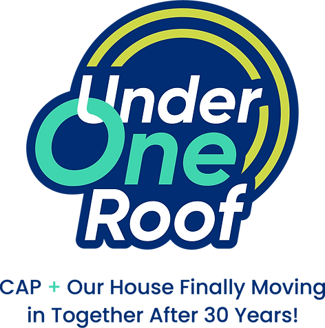 Under One Roof Logo CAP + Our House Finally Moving in Together