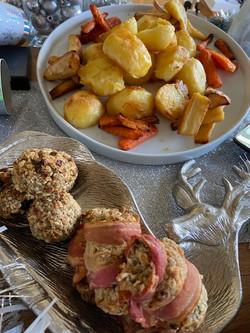 Roast Potatoes and Stuffing