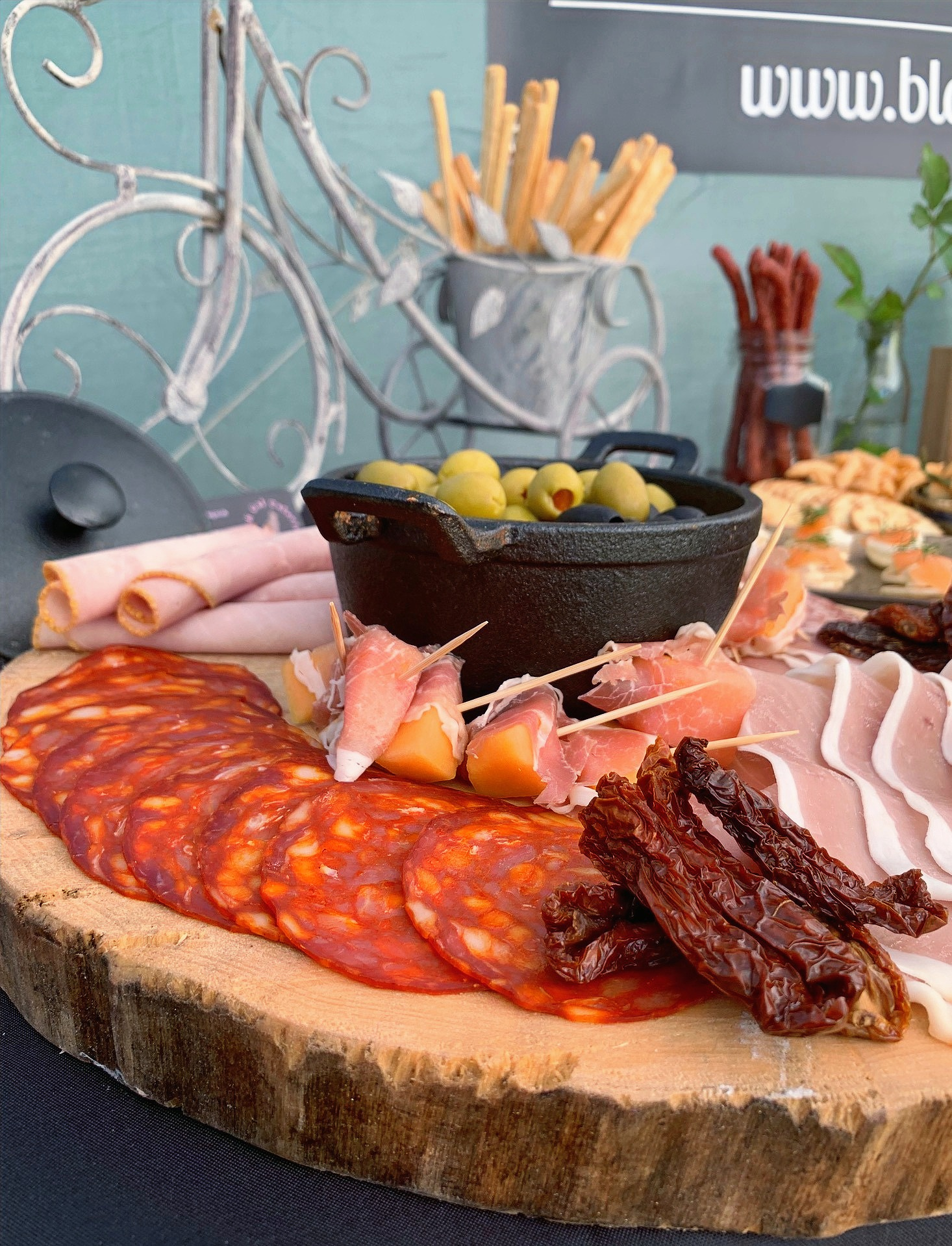 Locally Sourced Meat Platter and Olives