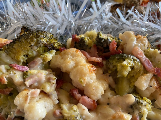 Brocolli and Cauliflower Cheese