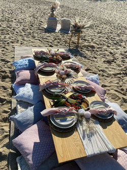 The set up on the Beach in Episode One