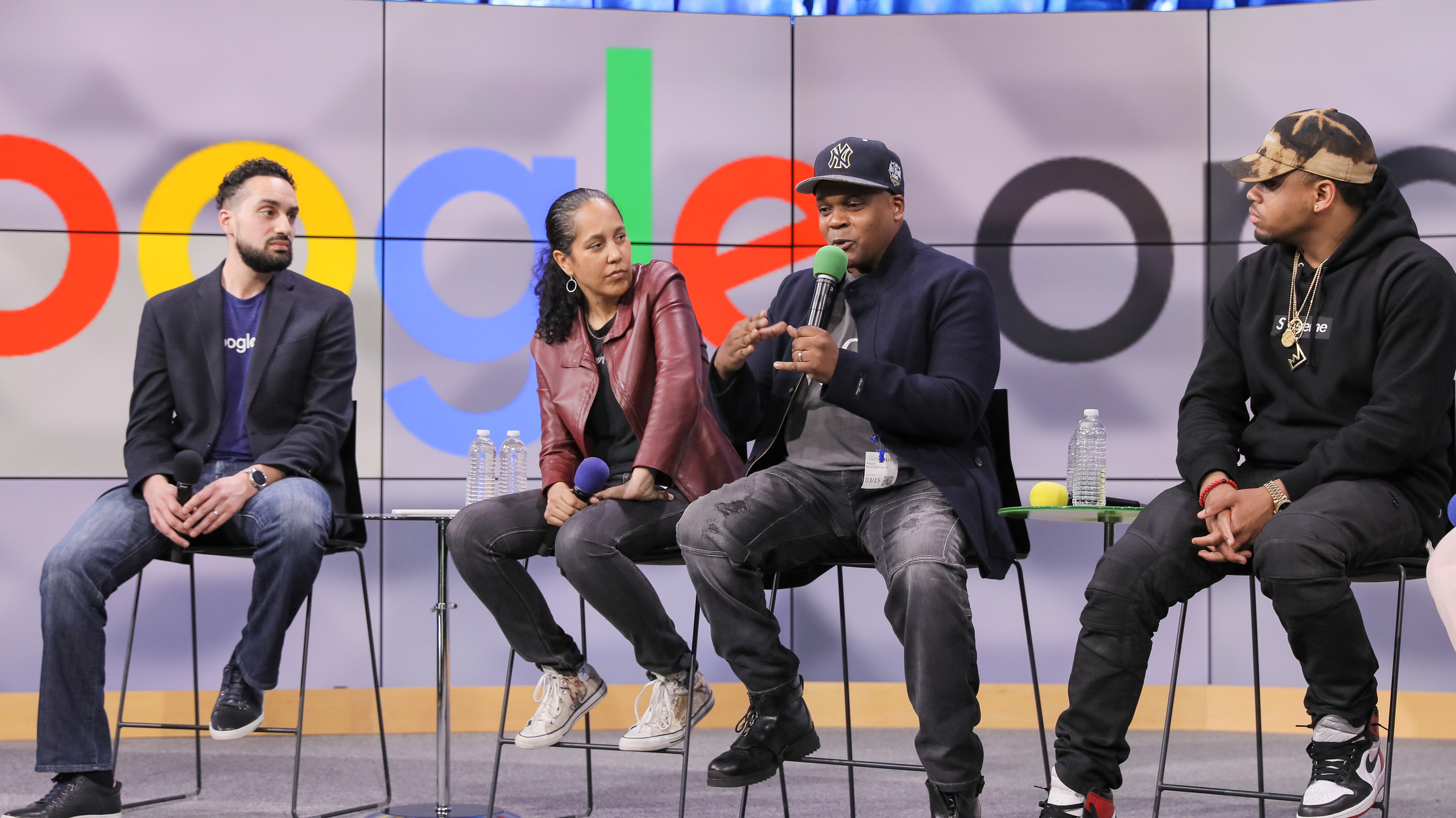 Reggie Bythewood during Q&A at Google