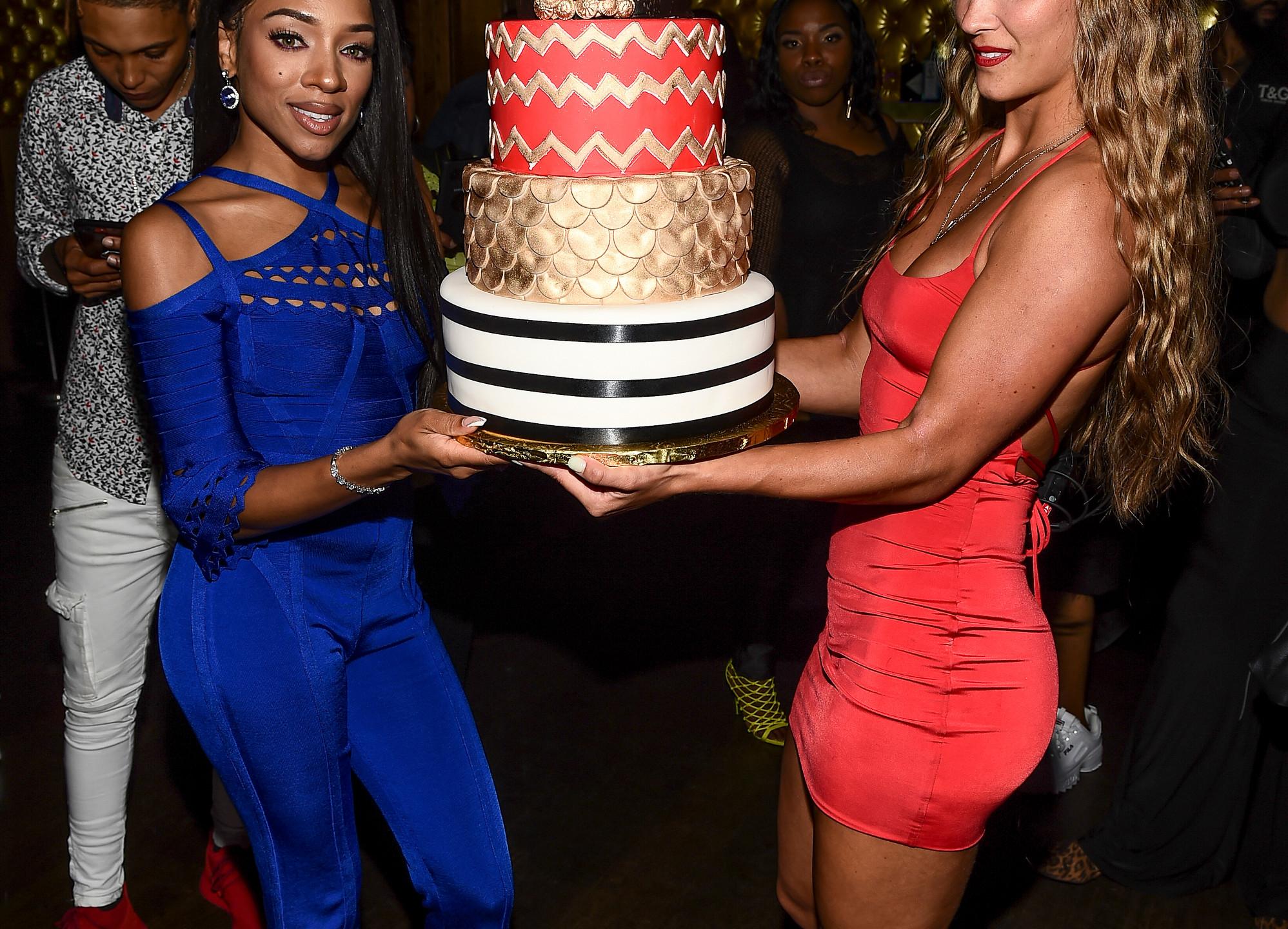 Lil Mama and cake
