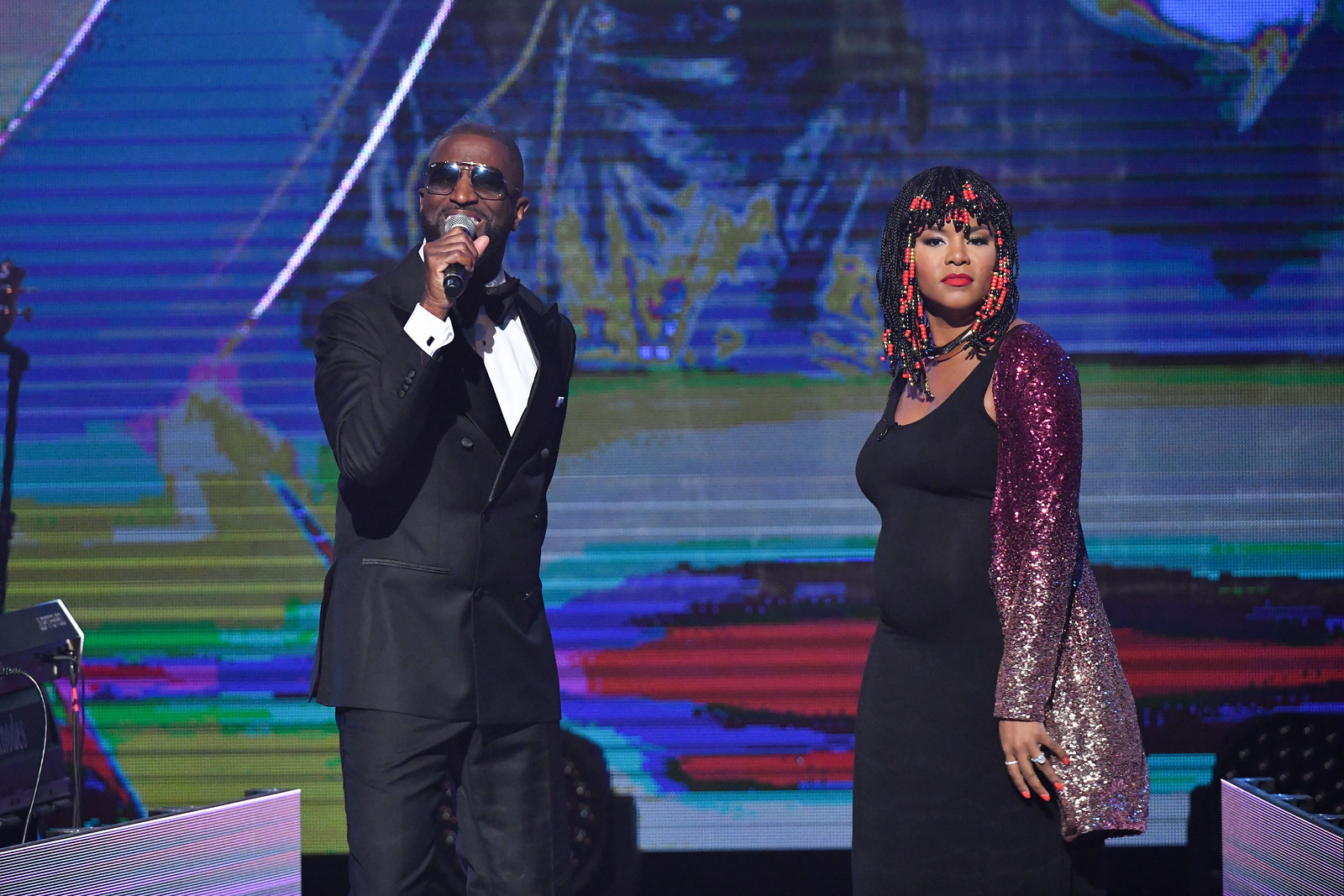 LeToya and Rickey Smiley open the show