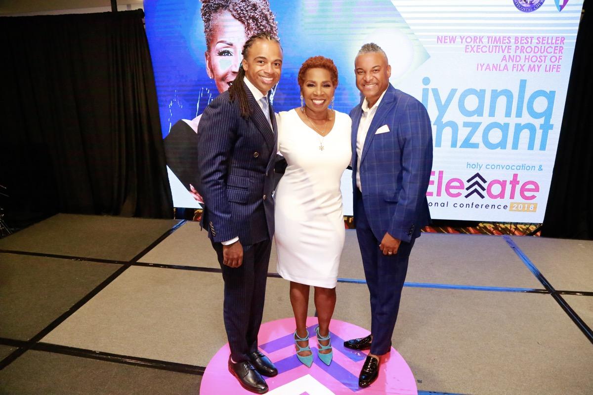 Rashad Burgess, Iyanla Vanzant and Bishop OC Allen - 2