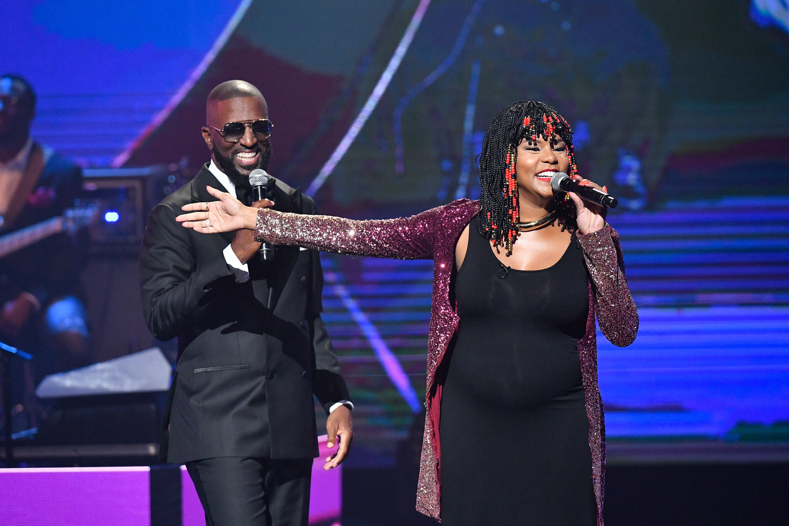CoHosts Rickey Smiley and LeToya Lucket