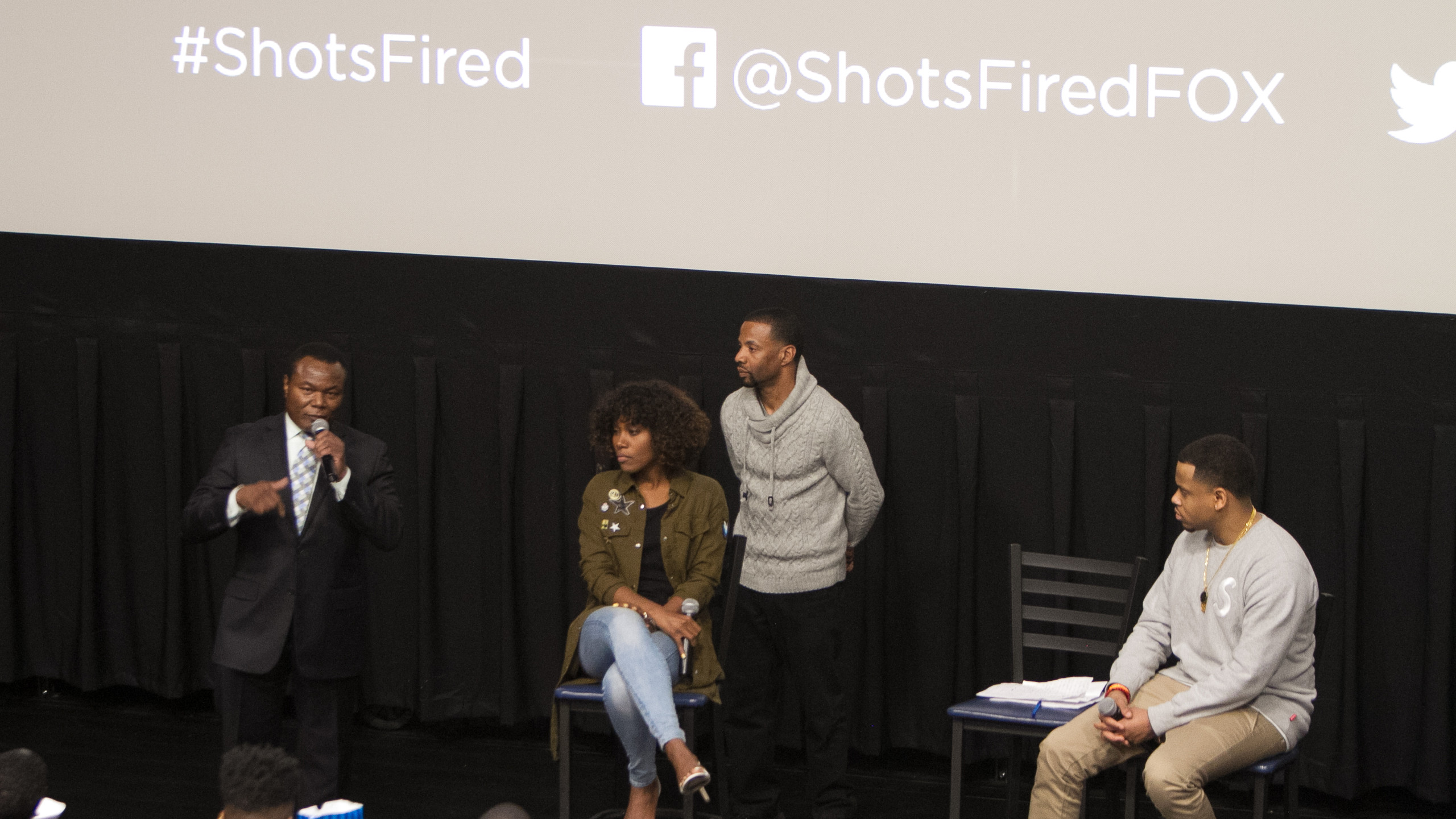 Perry Tarrant (National President of Nat'l Org of Black Law Enforcement). DeWanda Wise. Fly Ty. Mack Wilds
