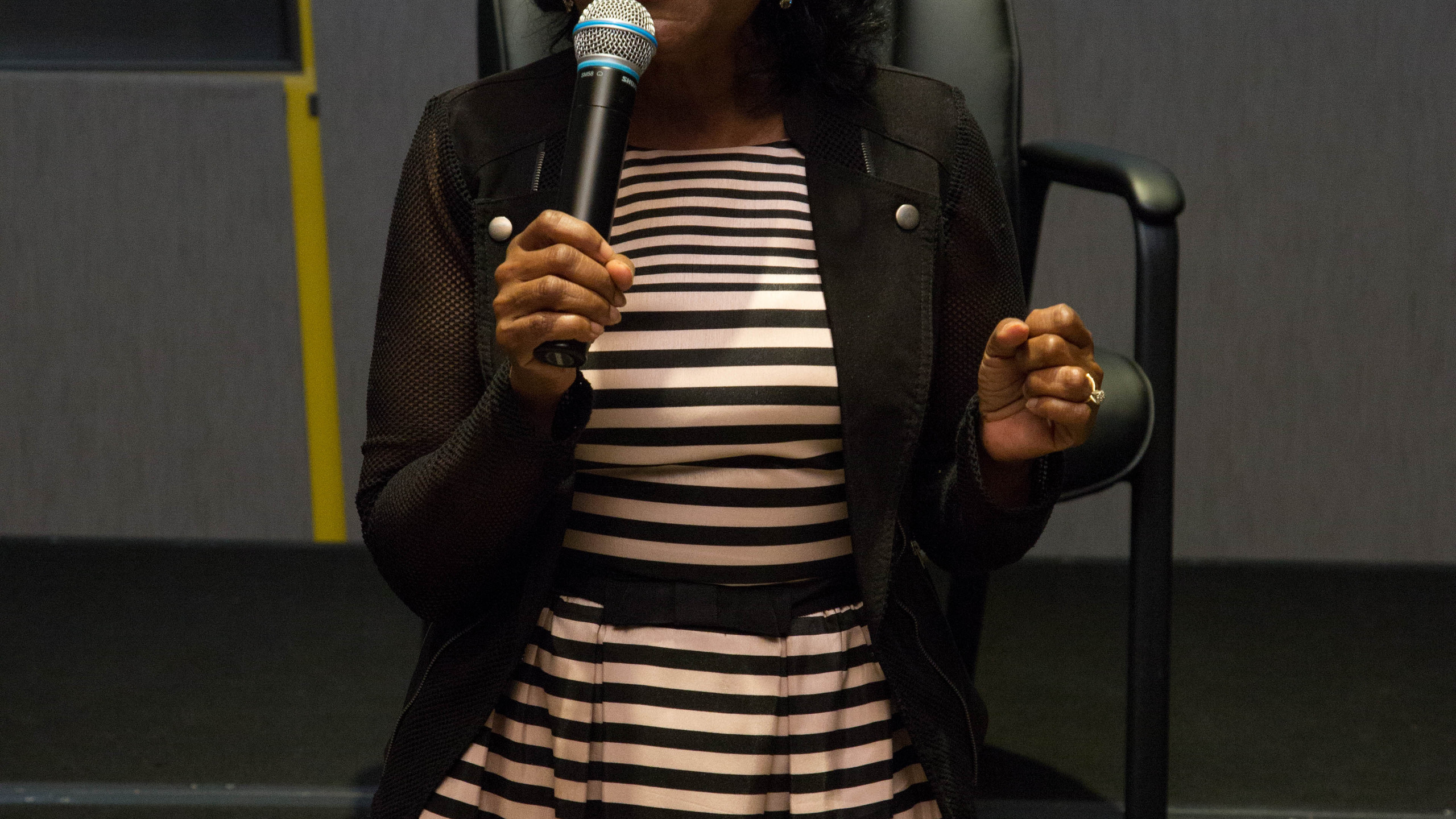 BWFN founder Sheryl Gripper makes remarks