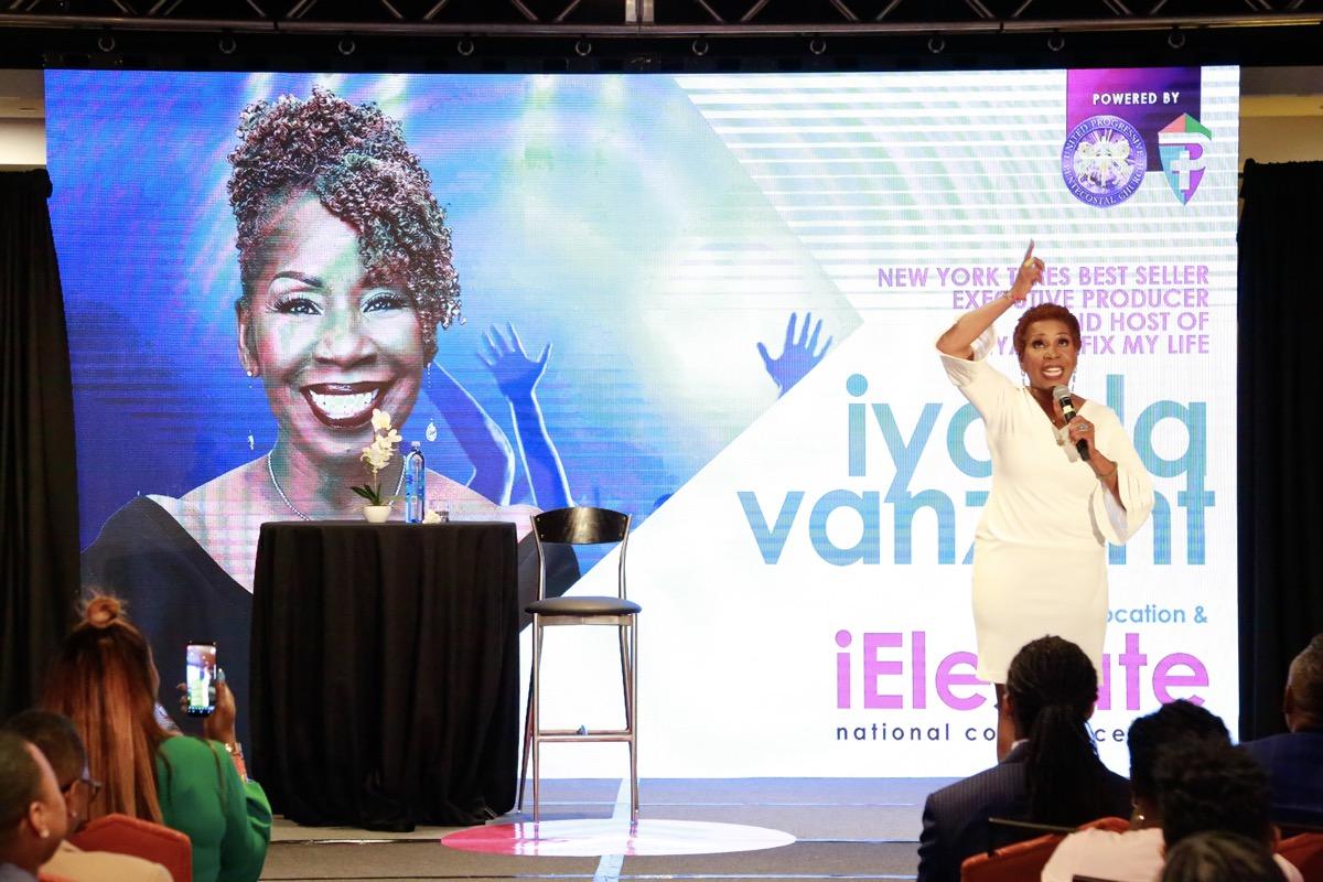 Iyanla Vanzant on stage