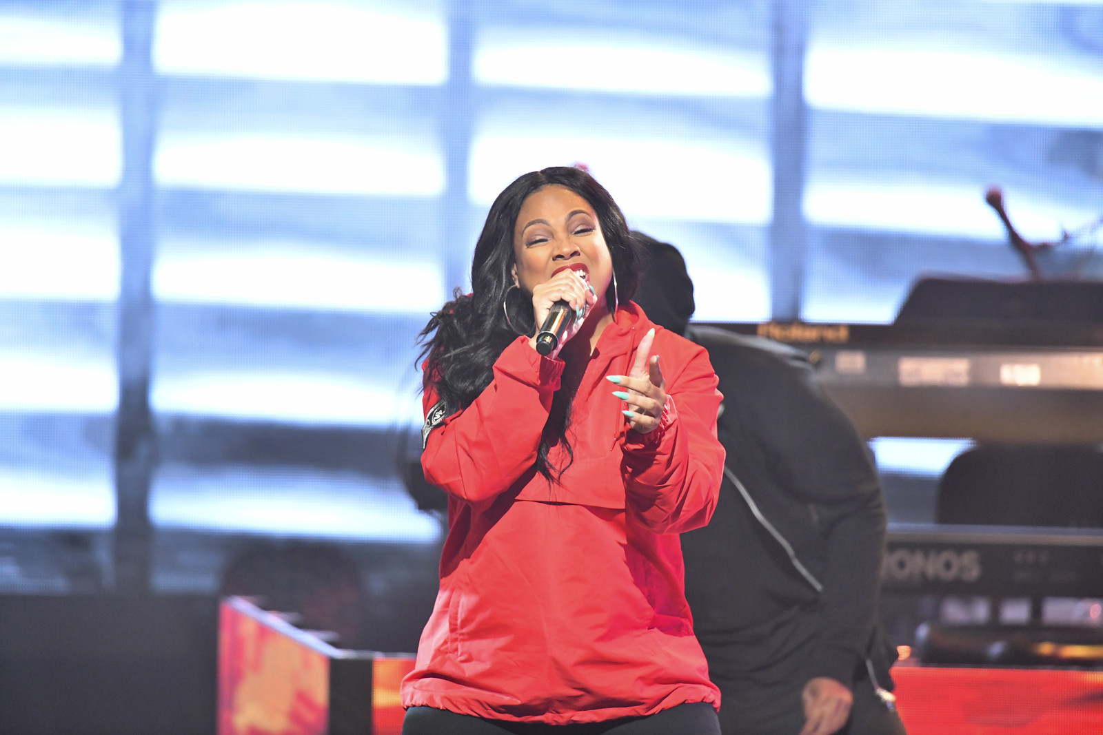 Monie Love performs