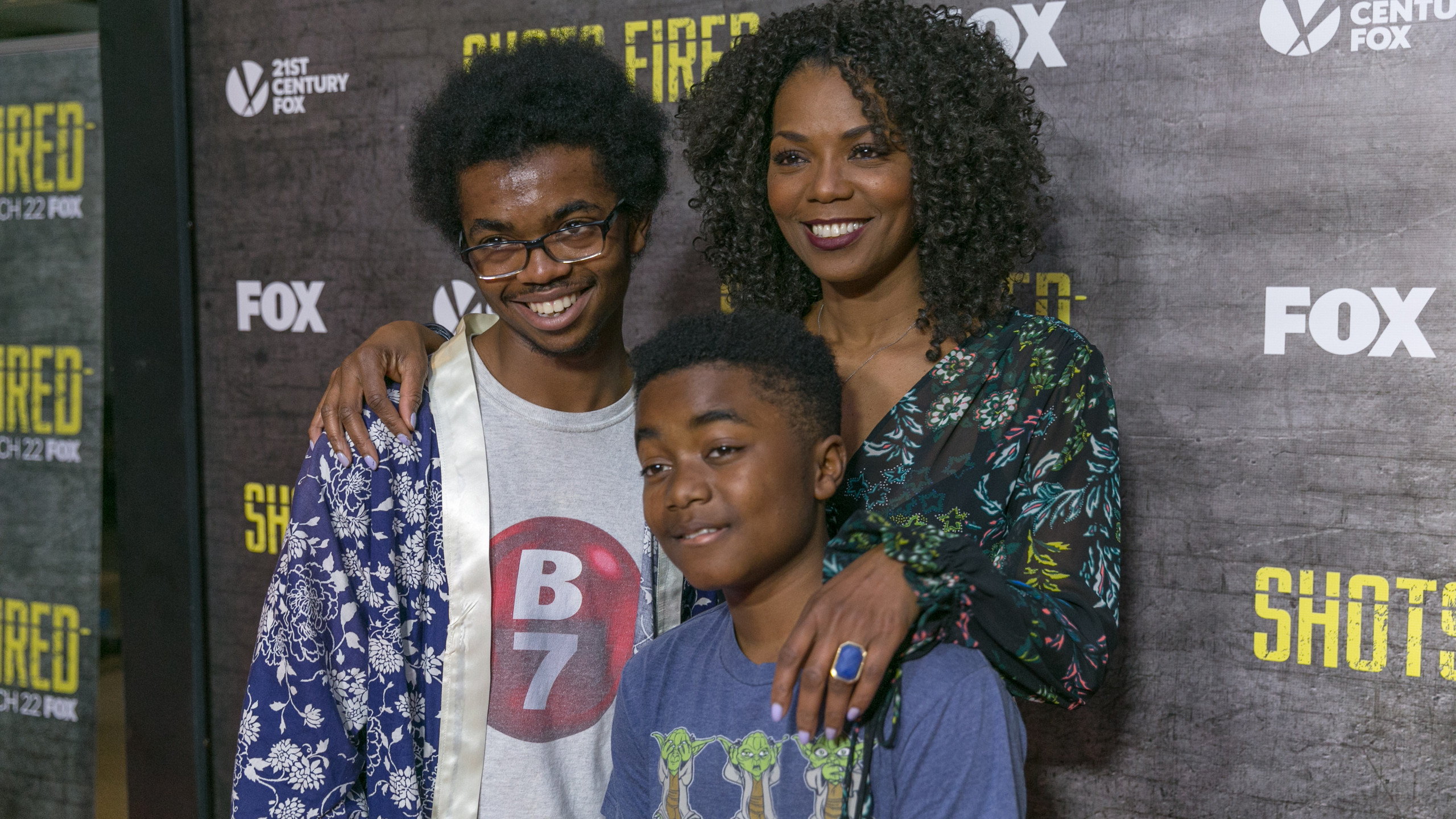 Vanessa Williams with sons Omar Wiseman and Haile Wiseman