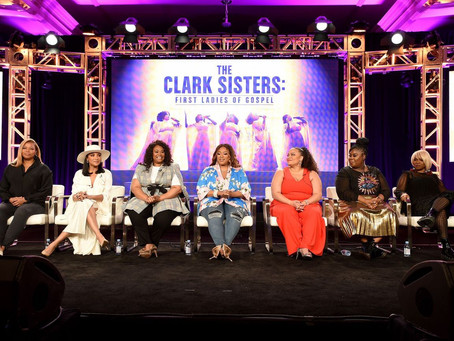 Queen Latifah, Kierra Sheard, Raven Goodwin at TCA for The Clark Sisters: First Ladies of Gospel on