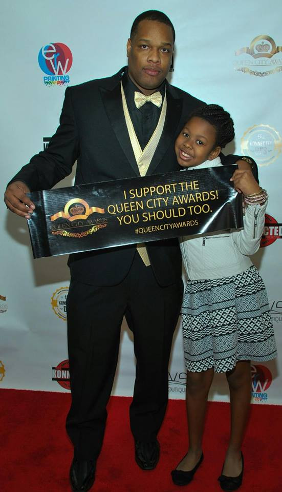 Glover with oldest daughter Giselle