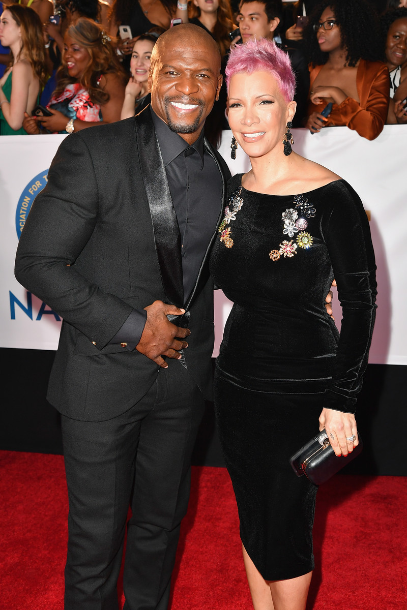 Terry Crews (L) and Rebecca King-Crews