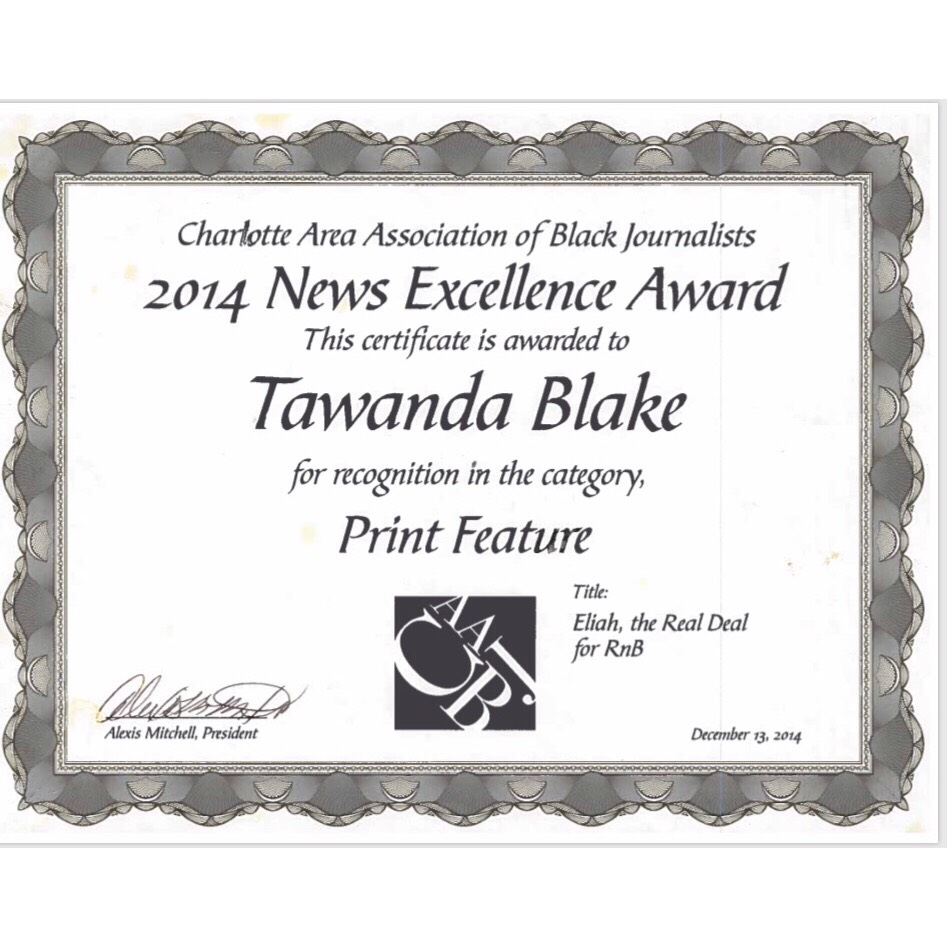 2014 News Excellence Award/ Eliah