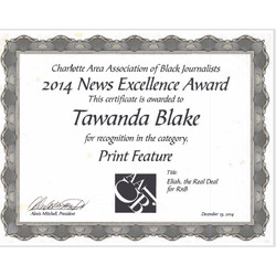 2014 News Excellence Award/ Eliah