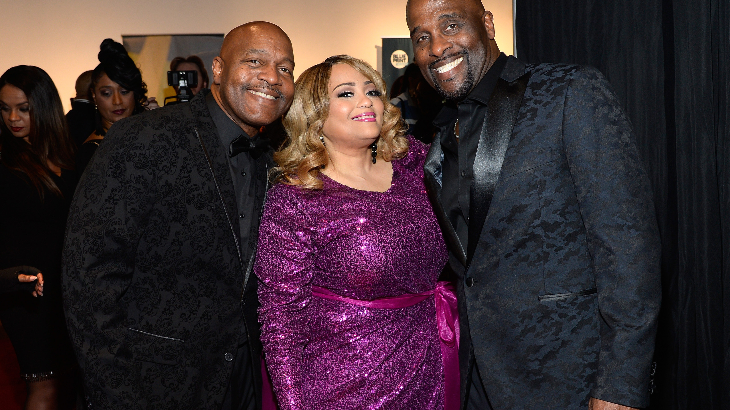 Michael and Carvin Winans with Melanie F
