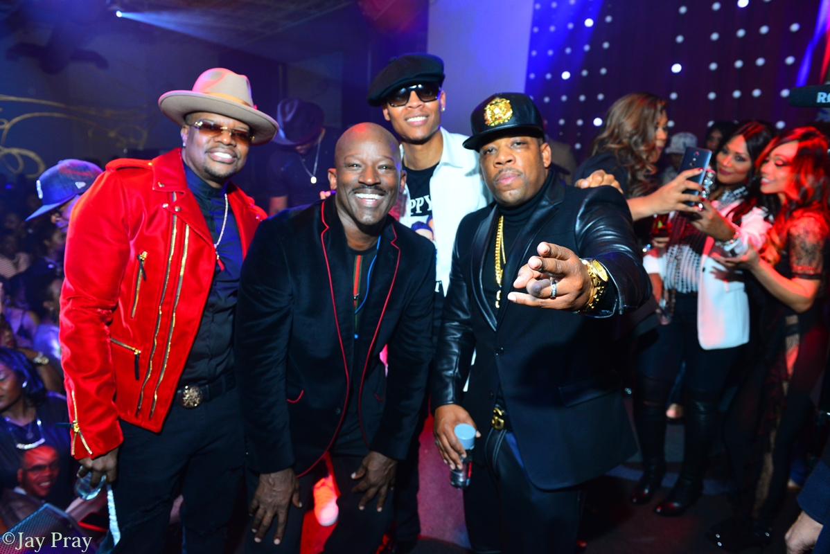 Rickey Bell, Ronnie Devoe, Mike Bivens and friend