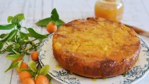 Torta morbida rovesciata all'arancia