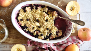 Crumble di mele e mirtilli