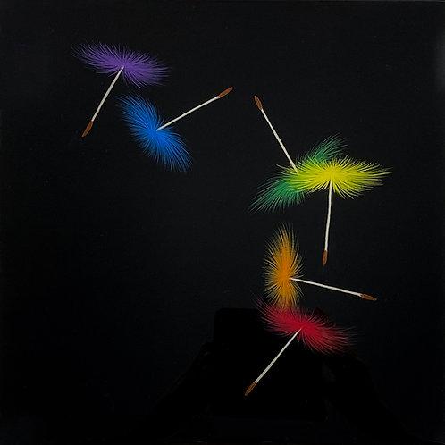 Rainbow Wishes at Night