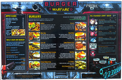 Burger Warfare menu