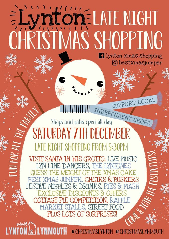 Poster for Lynton Christmas Late Night Shopping, Exmoor