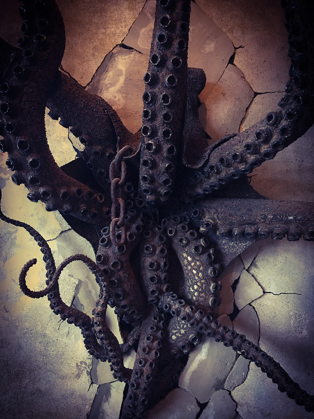 Sculpture, octopus, art, exmoor