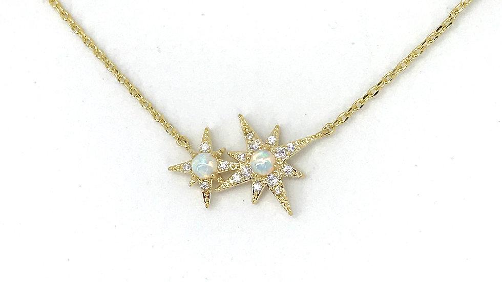Collar estrellas de opalo