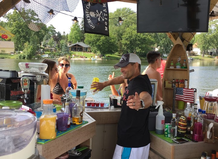 Bartending on the Bar'ge
