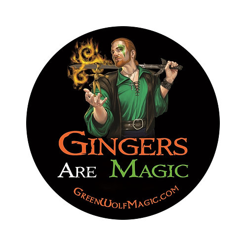 Gingers Are Magic (Version 2) 3in Vinyl Sticker