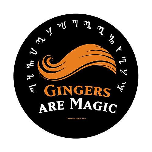 Gingers Are Magic (Version 1) 3in Vinyl Sticker