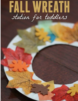 Create a simple fall wreath with you kids