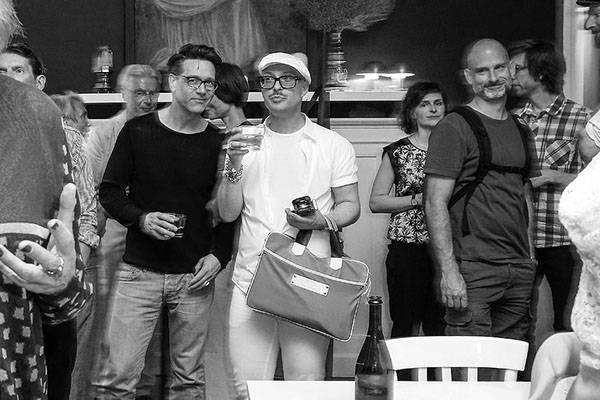 marcello wollank und galerist jan linkersdorff @ pop up shop