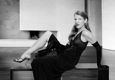 black sequined chiffon dress