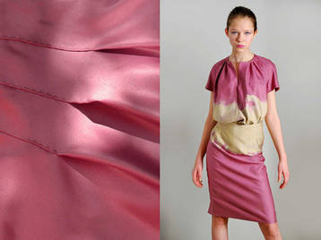 eco couture with handdyed silk