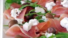 Salade minceur viande de grison et feta