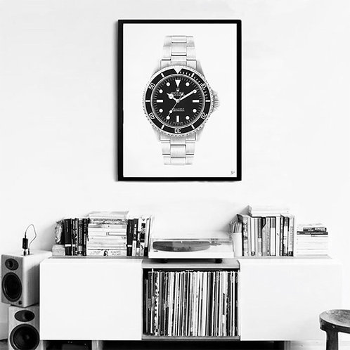 Print of the Rolex Submariner 5513 Meters first