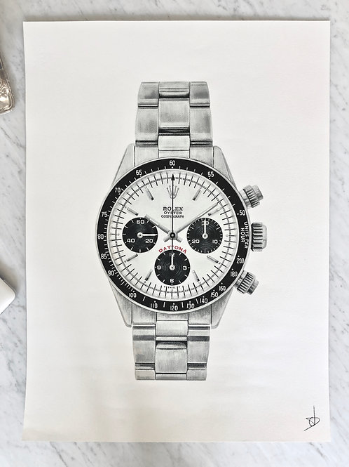 Print of the Rolex Daytona 6263 Big Red